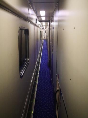 Caledonian Sleeper's corridor