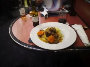 Poo on mash potato aka beef bourguignon