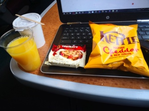 Crisps and cake