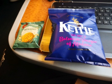 Crisps and cookie (one of 100s i got during this trip)